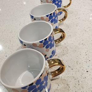 COPY - Fringe -Pas Blue Bouquet Mugs (Set of 4)